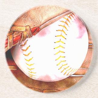 Béisbol y estilo del Grunge del guante Posavasos Personalizados