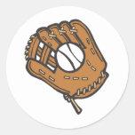 Béisbol y guante etiquetas