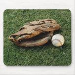 Béisbol y guante Mousepad Tapetes De Raton
