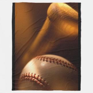 Béisbol y manta del paño grueso y suave del palo manta de forro polar