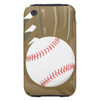 béisbol y mitón del guante iPhone 3 tough carcasa