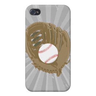 béisbol y mitón del guante iPhone 4 carcasas