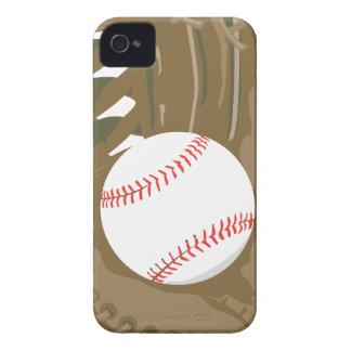 béisbol y mitón del guante iPhone 4 Case-Mate protectores