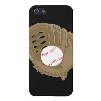 béisbol y mitón del guante iPhone 5 carcasas