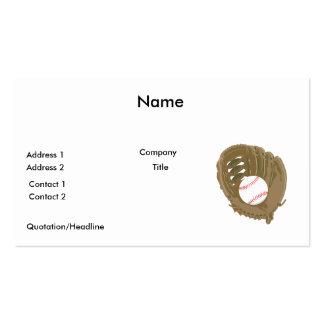 béisbol y mitón del guante tarjetas de visita