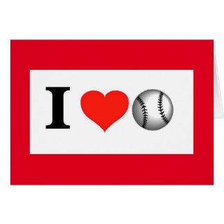 Béisbol y usted del amor de la tarjeta del día de