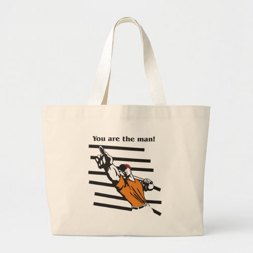 beisbol-you are the man product line canvas bags