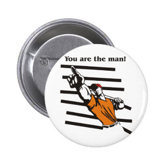 beisbol-you are the man product line pinback buttons