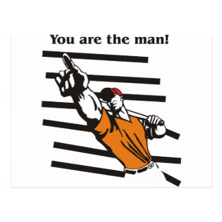beisbol-you are the man product line postcard