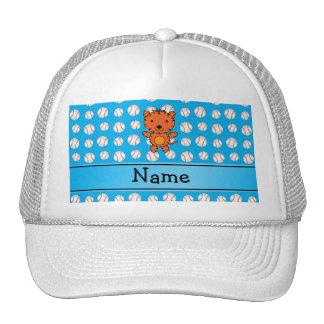 Béisboles conocidos personalizados del azul del ti gorras