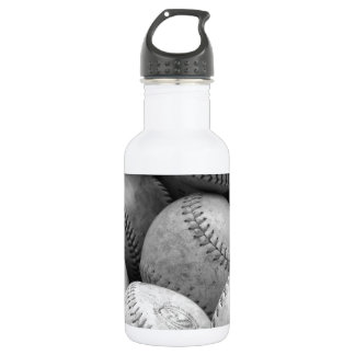Béisboles del vintage en blanco y negro