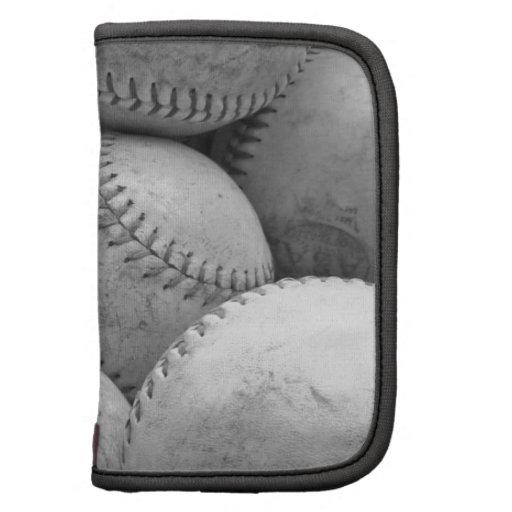 Béisboles del vintage en blanco y negro planificador