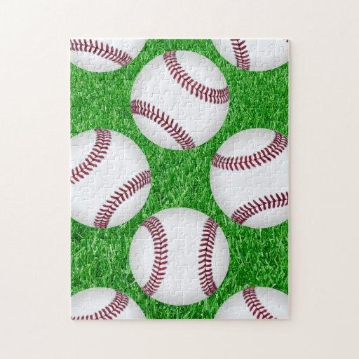 Béisboles en césped puzzle