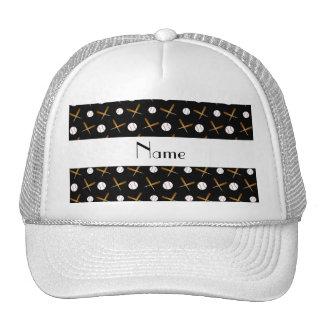Béisboles negros conocidos personalizados gorras de camionero