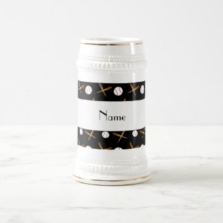 Béisboles negros conocidos personalizados tazas de café