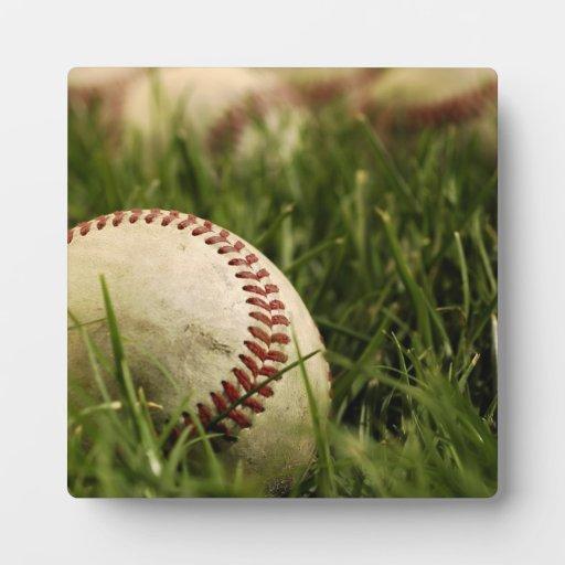 Béisboles nostálgicos placas con fotos