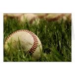 Béisboles nostálgicos tarjeta