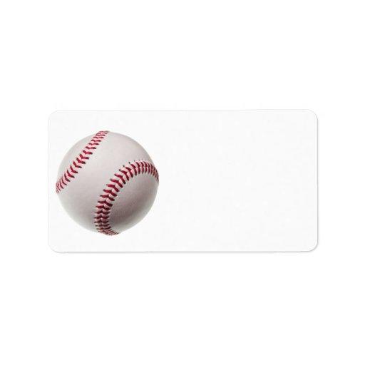 Béisboles - plantilla del fondo del béisbol del etiqueta de dirección