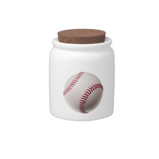 Béisboles - plantilla del fondo del béisbol del pe jarra para caramelo