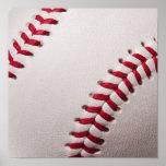 Béisboles - plantilla del fondo del béisbol del pe posters