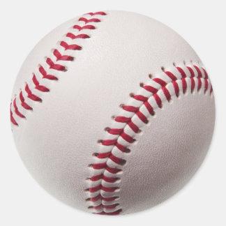 Béisboles - plantilla del fondo del béisbol del pegatina redonda