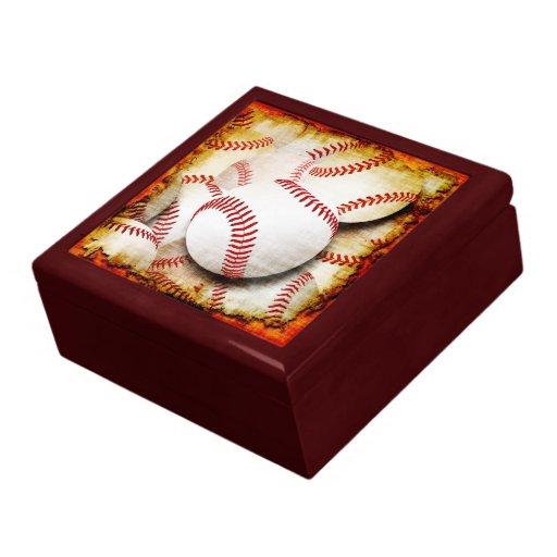 Béisboles recuerdo y joyero del estilo del Grunge