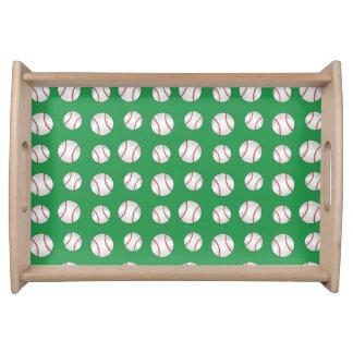 Béisboles verdes bandejas
