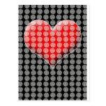 Béisboles y corazón tarjeta postal