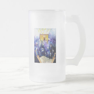 Beit Hamikdash 16 Oz Frosted Glass Beer Mug