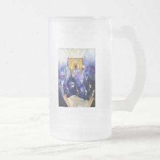 Beit Hamikdash Frosted Glass Beer Mug