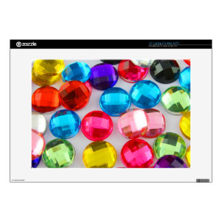"""Bejeweled Bevy Of Beaded Buttons 15"""" Laptop Decal"""