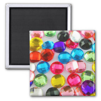 Bejeweled Bevy Of Beaded Buttons 2 Inch Square Magnet