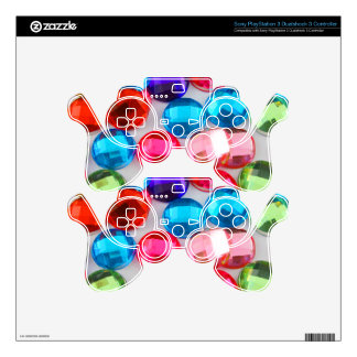 Bejeweled Bevy Of Beaded Buttons PS3 Controller Skin