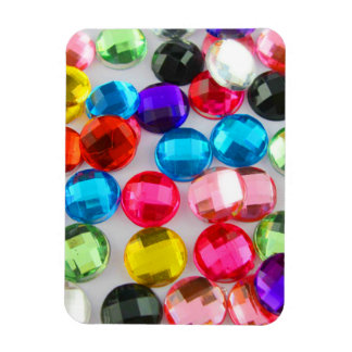 Bejeweled Bevy Of Beaded Buttons Rectangular Photo Magnet