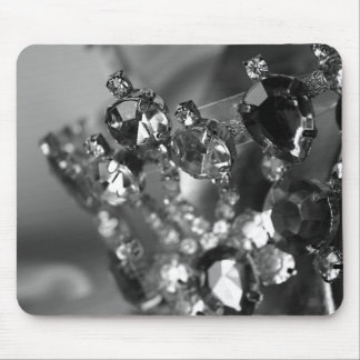"""""""Bejeweled"""" Black and White Photography Mouse Pad"""