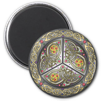 Bejeweled Celtic Shield 2 Inch Round Magnet
