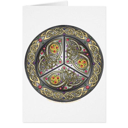 Bejeweled Celtic Shield Card