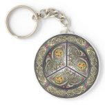 Bejeweled Celtic Shield Keychain