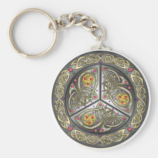 Bejeweled Celtic Shield Keychain