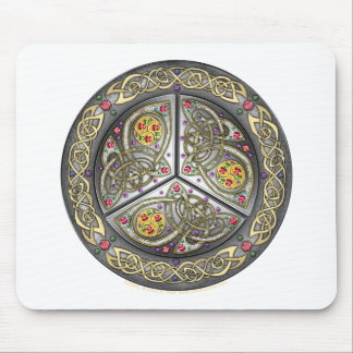 Bejeweled Celtic Shield Mouse Pad