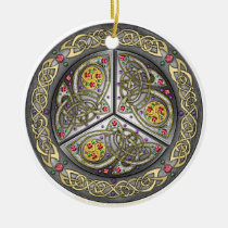 Bejeweled Celtic Shield Ornament