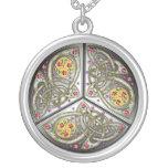 Bejeweled Celtic Shield Pendant Necklace