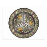 Bejeweled Celtic Shield Postcard