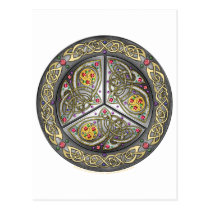 Bejeweled Celtic Shield Postcard