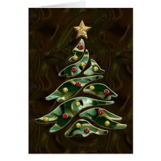 Bejeweled Christmas Tree Greeting Card