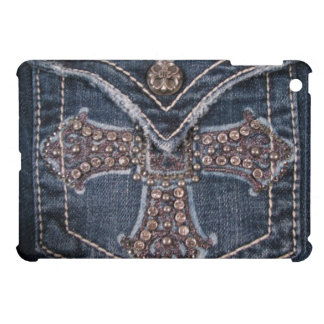 Bejeweled Denim Pocket iPad Mini Case