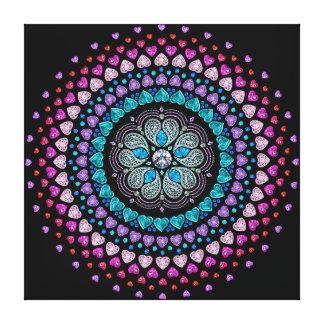 Bejeweled Diamond Heart Explosion Canvas