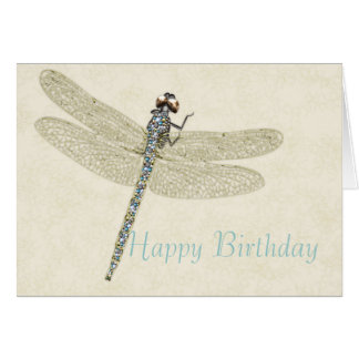Bejeweled Dragonfly Happy Birthday Card
