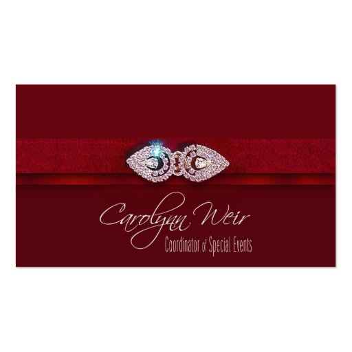 Quot Bejeweled Quot Glamorous Elegant Event Planner Business