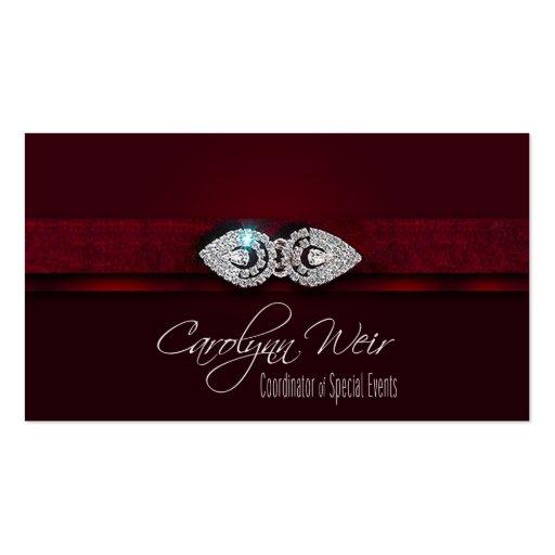 """Bejeweled"" - Glamorous Elegant Event Planner Business Card"